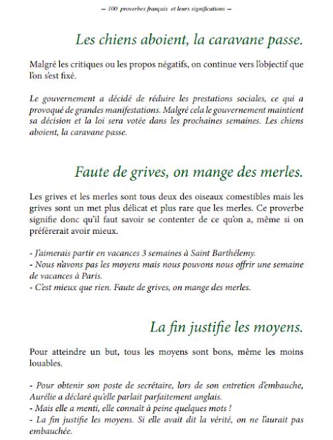 100 Proverbes français les plus courants PDF gratuit 3
