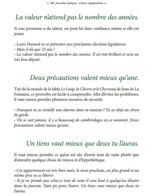 100 Proverbes français les plus courants PDF gratuit 2