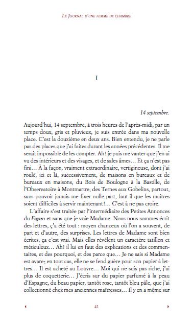 Roman: Le Journal d'une femme de chambre PDF gratuit 1