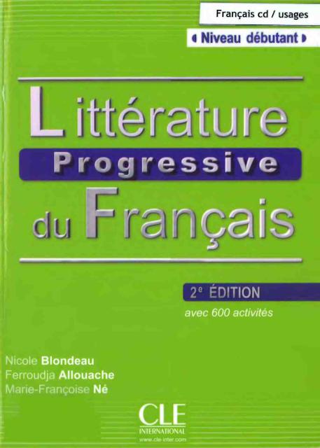 Littérature progressive du français Niveau débutant 1