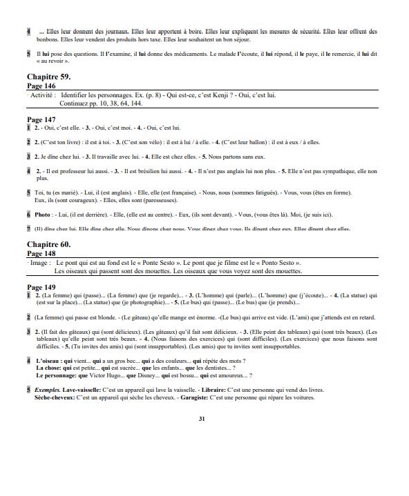 Grammaire progressive du français Niveau Débutant corrigés pdf 3