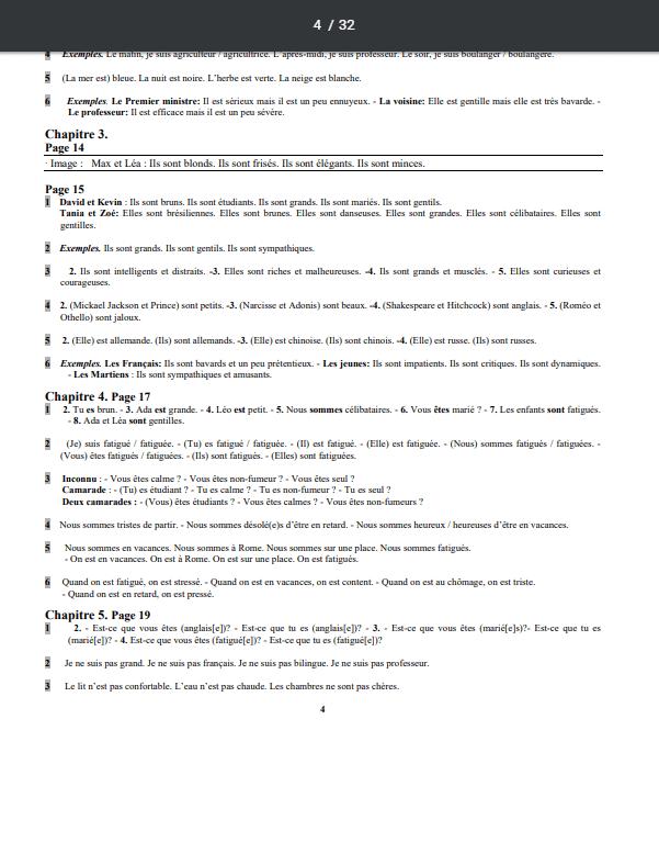 Grammaire progressive du français Niveau Débutant corrigés pdf 2