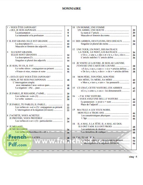 Grammaire progressive du français, Niveau débutant pdf 4