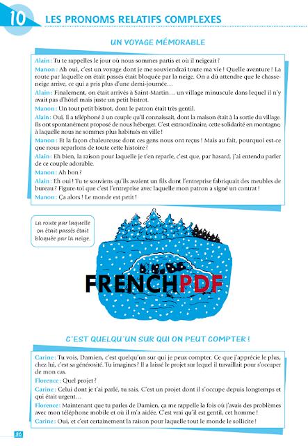 Grammaire en dialogues PDF Niveau intermédiaire Livre + CD audio gratuit et les corrigés 4