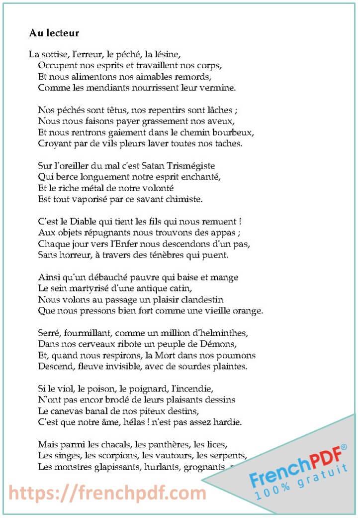 Les Fleurs du mal PDF de Charles Baudelaire 2019 1