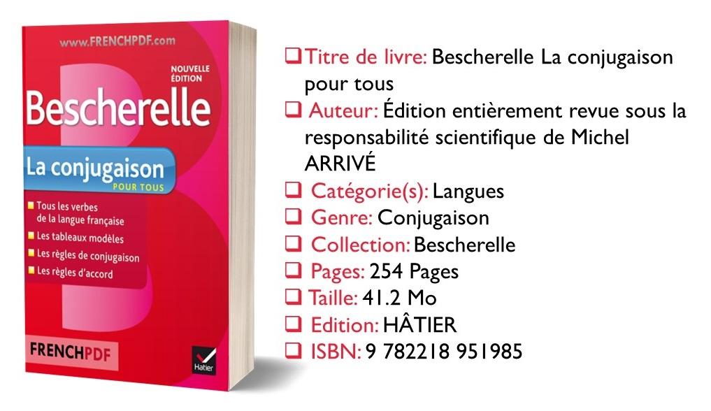 Bescherelle La conjugaison pour tous en PDF gratuitement 1