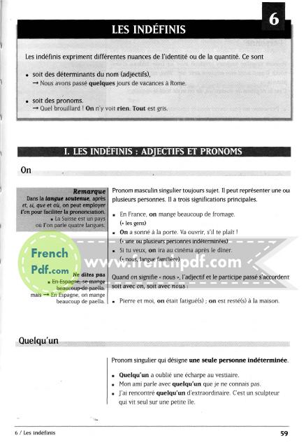 Nouvelle grammaire du français en PDF Cours de civilisation de la SORBONNE 2