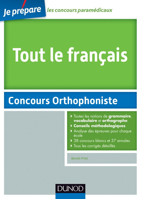 Tout le français au concours d'entrée orthophoniste