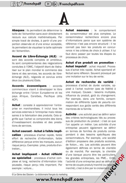 Télécharger Le dictionnaire français du marketing pdf Sophie RICHARD-LANNEYRIE 2