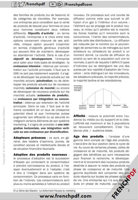 Télécharger Le dictionnaire français du marketing pdf Sophie RICHARD-LANNEYRIE 4