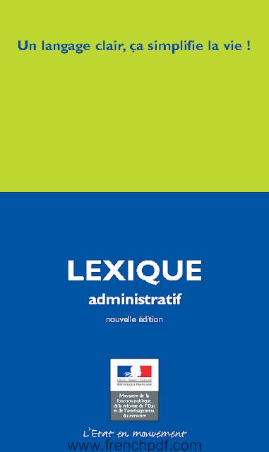 Telecharger Livre Lexique Administratif Un Langage Clair Ca