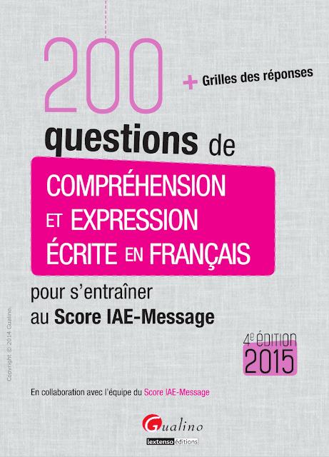 200 Questions de compréhension et expression écrite en français pdf gratuit 1