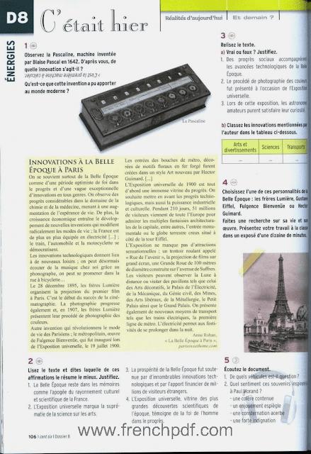 Télécharger Alter ego 5 pdf Niveau C1 / C2 méthode de français + CD audio 3