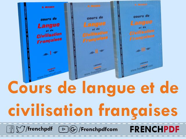 Télécharger tous les tomes de livre: Cours de langue et de civilisation françaises pdf 2