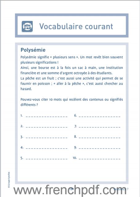 Jeux de langue Française pdf gratuit 4