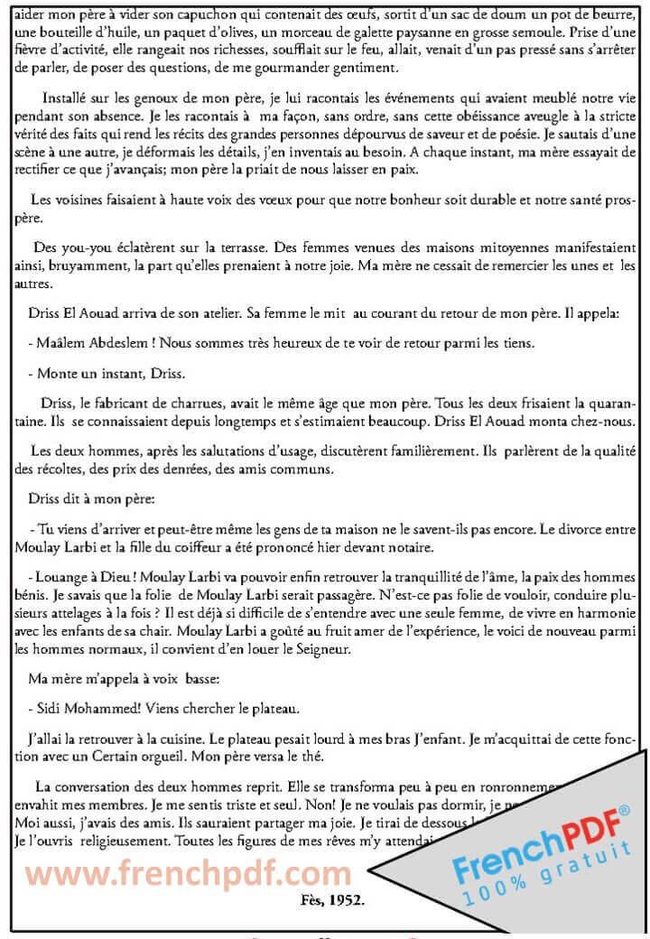 La Boîte A Merveilles PDF d'Ahmed Sefrioui 1