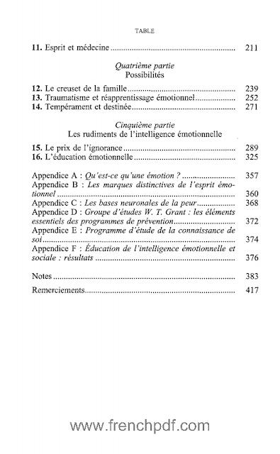L'intelligence émotionnelle en PDF de Daniel Goleman 2