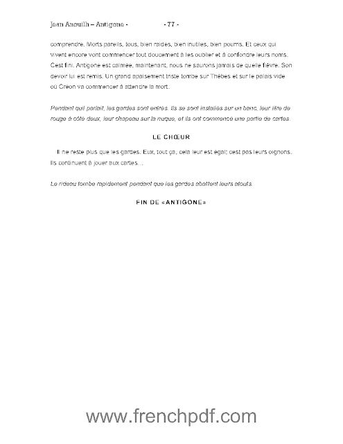 Antigone en PDF de Jean Anouilh + un petit résumé 5