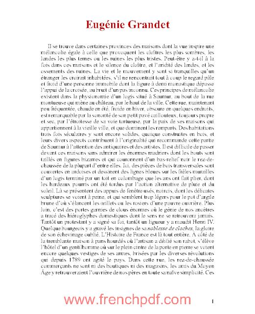 Eugénie Grandet en pdf gratuit Honoré de Balzac 3
