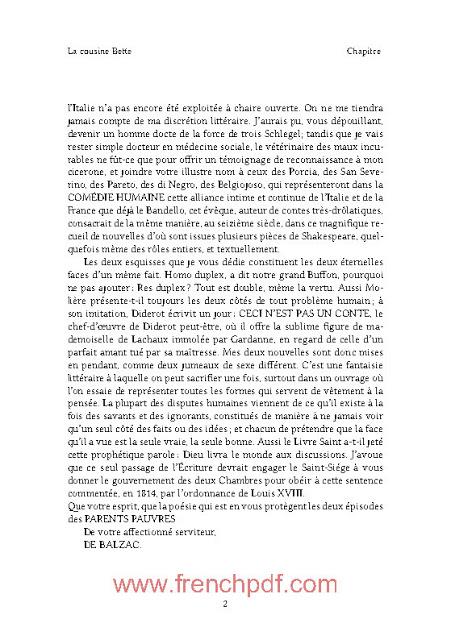 La cousine Bette en pdf gratuit par Honoré de Balzac 2