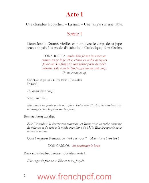 Hernani en pdf ou l'Honneur castillan de Victor Hugo 2