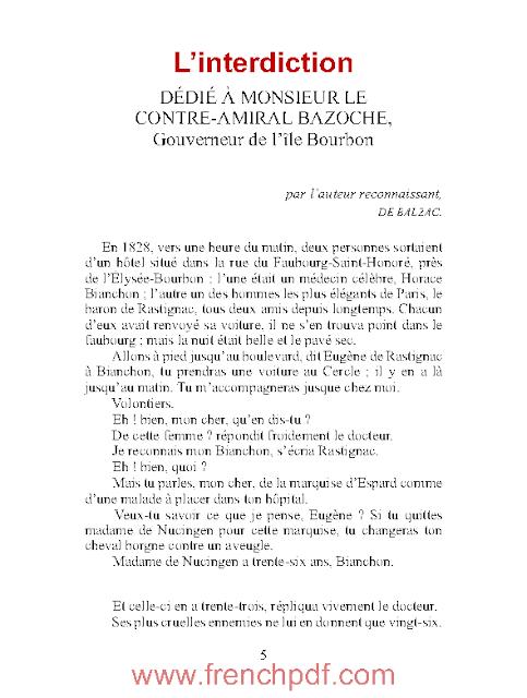 Nouvelles: L'interdiction en PDF par Honoré de Balzac 1