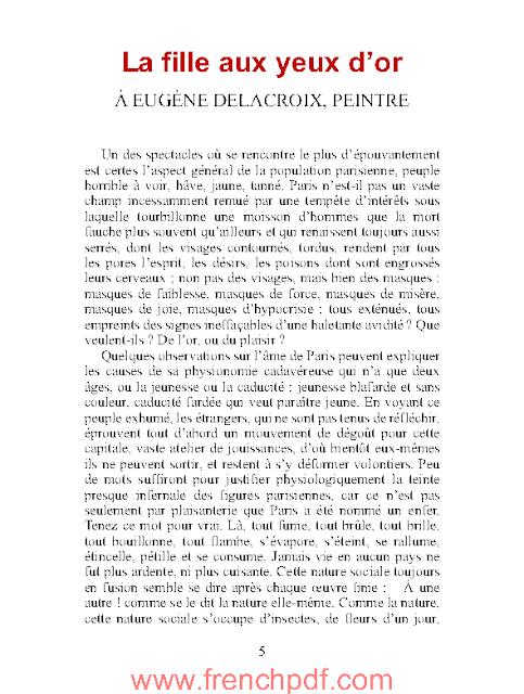 La fille aux yeux d'or en pdf par Honoré de Balzac 2
