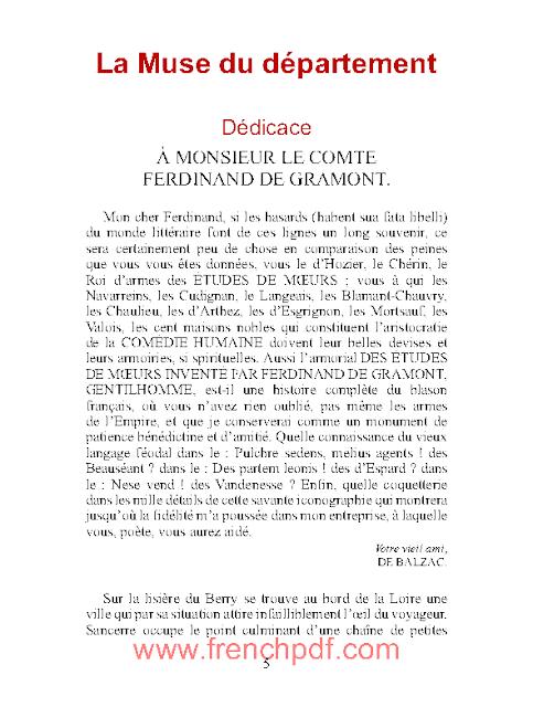 La Muse du Département PDF d'Honoré de Balzac 1