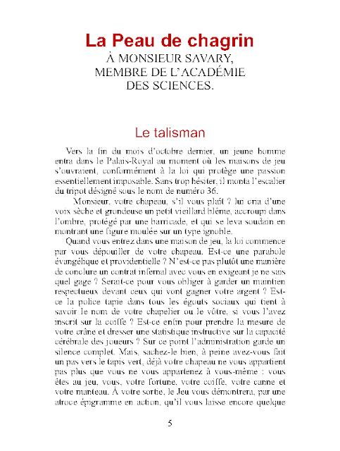 La Peau de Chagrin PDF par Honoré de Balzac 1