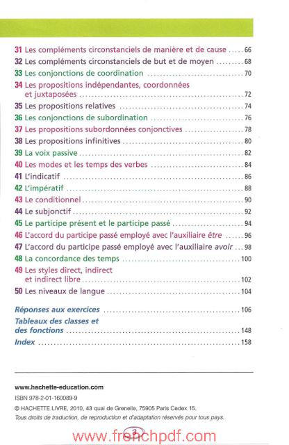 BLED - Les 50 Règles d'or de la Grammaire pdf gratuit 2