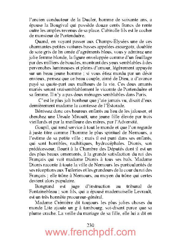 Ursule Mirouët en pdf par Honoré Balzac à Télécharger Gratuitement 5
