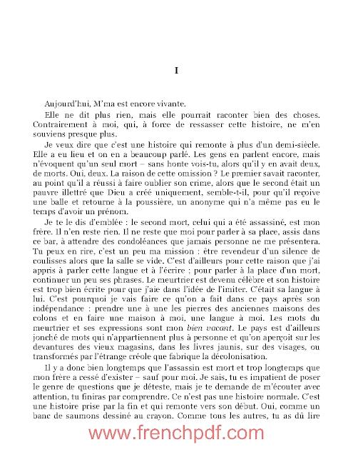 Roman: Meursault, contre-enquête en pdf de Kamel Daoud 3