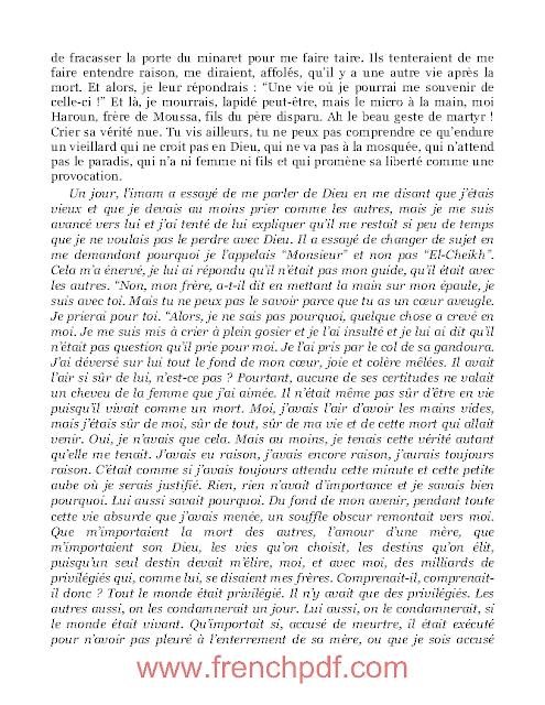 Roman: Meursault, contre-enquête en pdf de Kamel Daoud 5