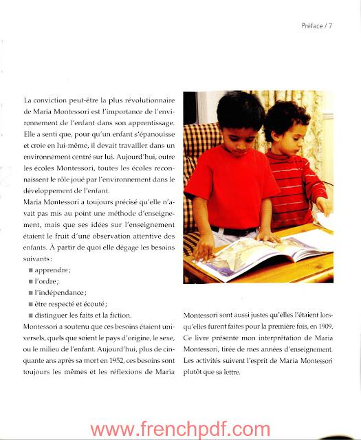 Activités d'après la pédagogie montessori en pdf gratuit 3