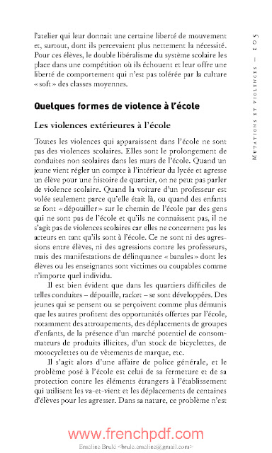 Faits d'école de François Dubet Livre PDF gratuit 4