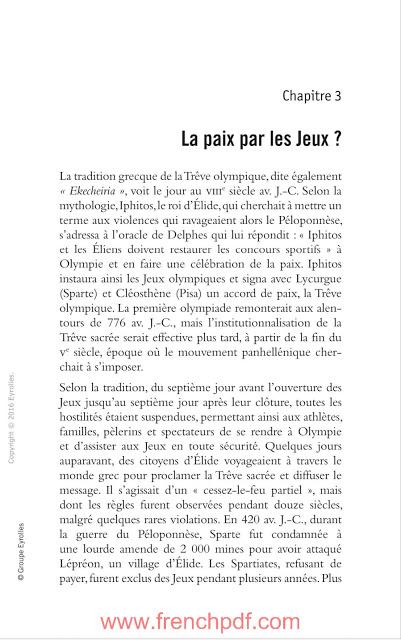 JO politiques: Sport et relations internationales en PDF Gratuit 4
