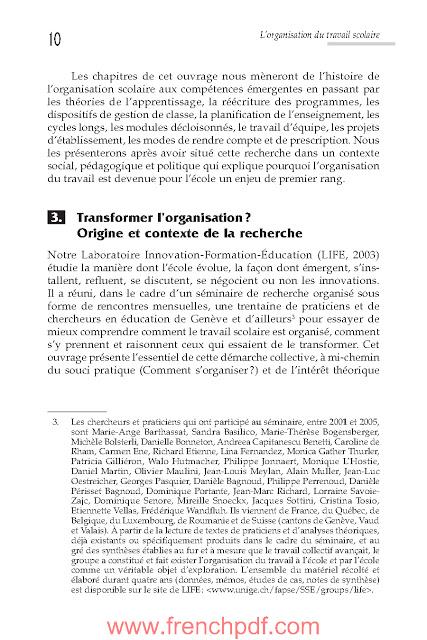L'organisation du travail scolaire en PDF livre gratuit 4