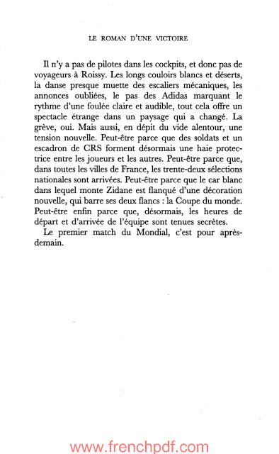 Zidane le roman d'une victoire livre numérique de Dan Franck 5