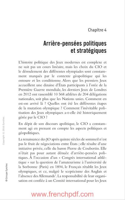 JO politiques: Sport et relations internationales en PDF Gratuit 5