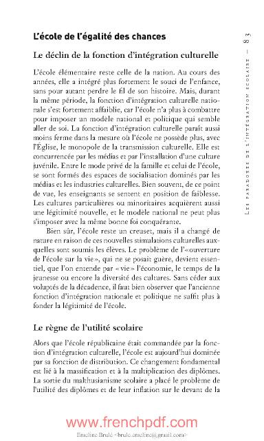 Faits d'école de François Dubet Livre PDF gratuit 3