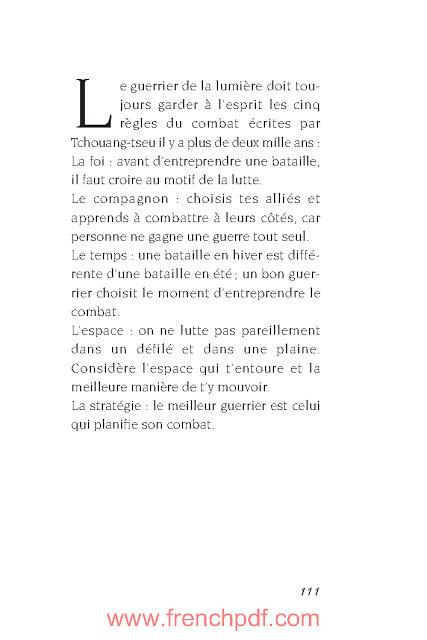 Manuel du Guerrier de la lumière par Paulo Coelho PDF Gratuit 4