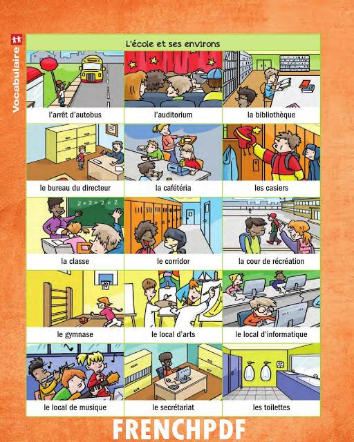 Apprendre le français en images: L'école et ses environs 2