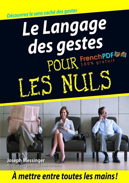 Le Language des gestes pour les nuls PDF Gratuit 1