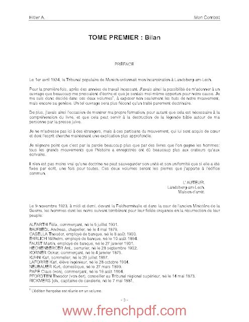 Livre De Adolf Hitler Mon combat en pdf Mein Kamp 2