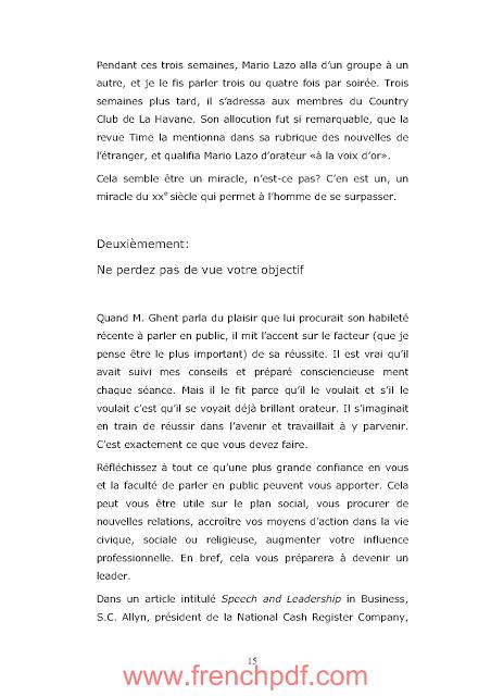 Comment parler en public de Dale Carnegie PDF Gratuit 2