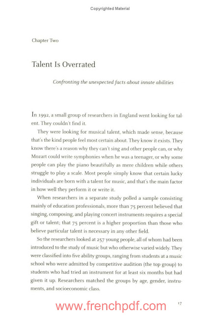 Talent is Overrated de Geoff Colvin (préféré de Donald Trump) PDF Gratuit 2