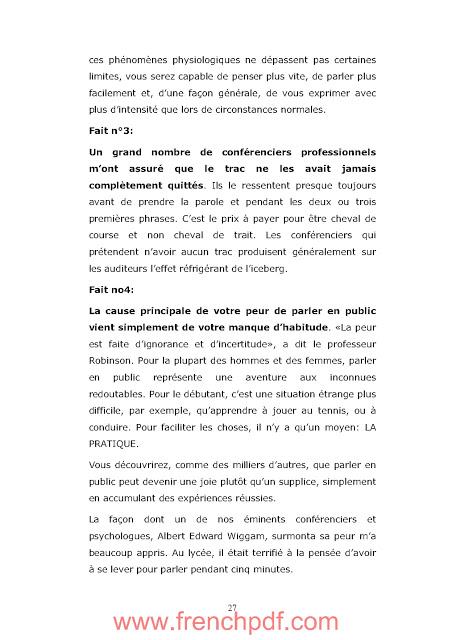 Comment parler en public de Dale Carnegie PDF Gratuit 3