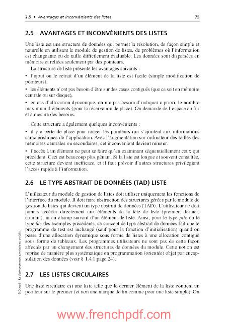 Algorithmes et structures de données génériques de Michel Divay PDF Gratuit 7