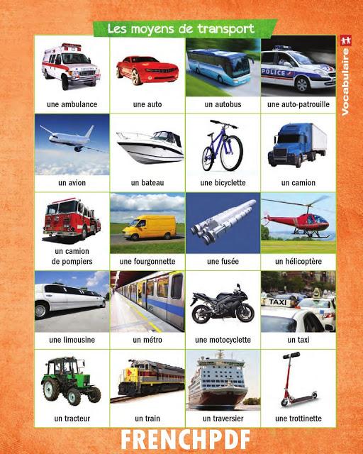 Apprendre le français en images: Les moyens de transport 2