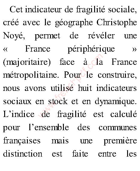 La France Périphérique, Comment on a sacrifié les classes populaires de Christophe Guilluy 3